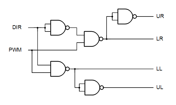 How to design a circuit from NAND-gates only,using a truth-table