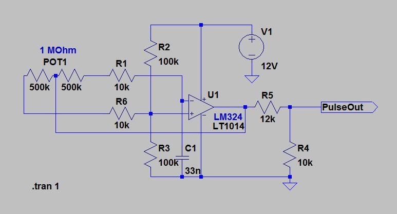 simple pulse generator using lm324 opamp lamja com rh lamja com pulse generator with op amp function generator with op amp