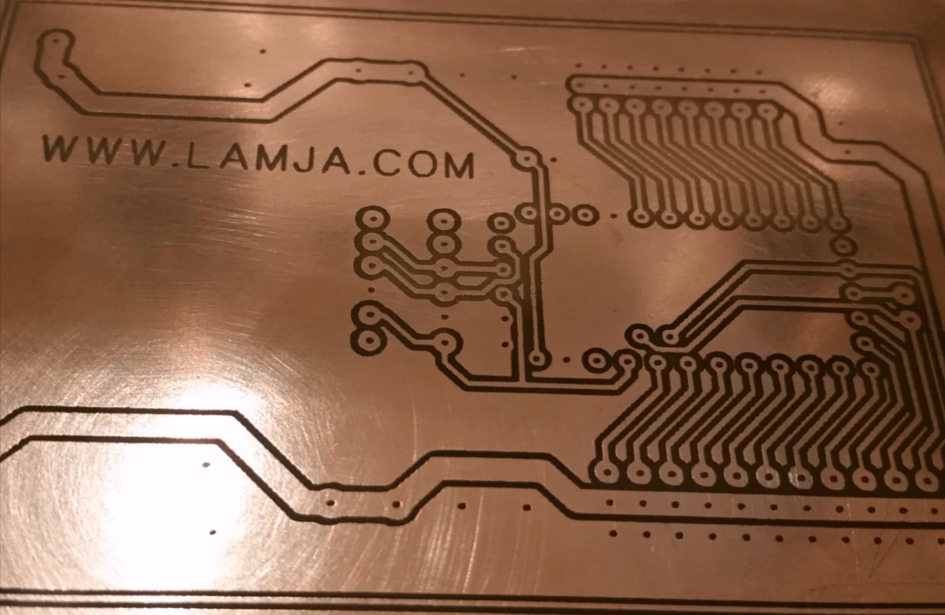 Making PCB with 3D Printer and permanent marker | Lamja com