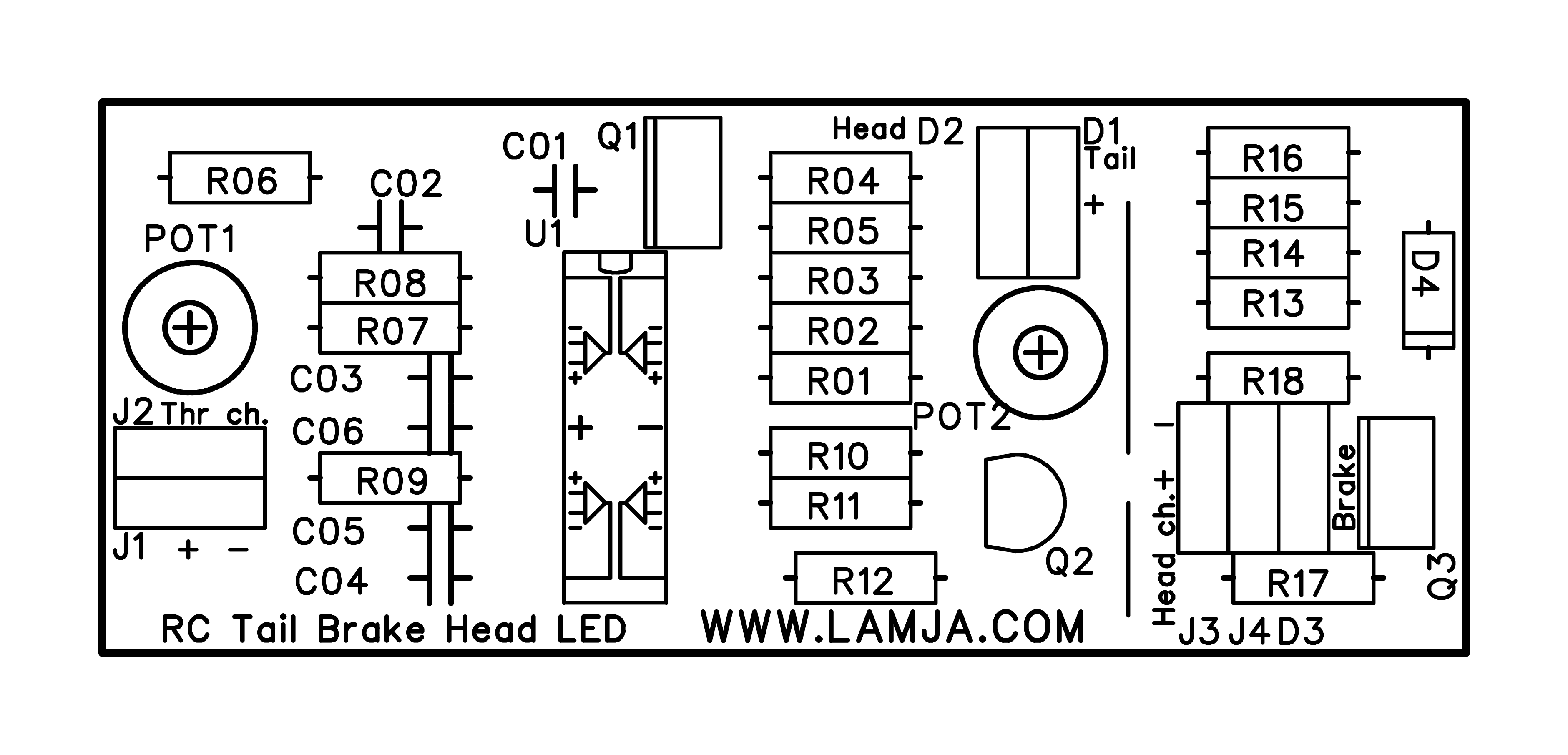Rc Circuit Board Diagram Data Wiring Car Head Tail And Brake Lights Led Control Lamja Com Lab